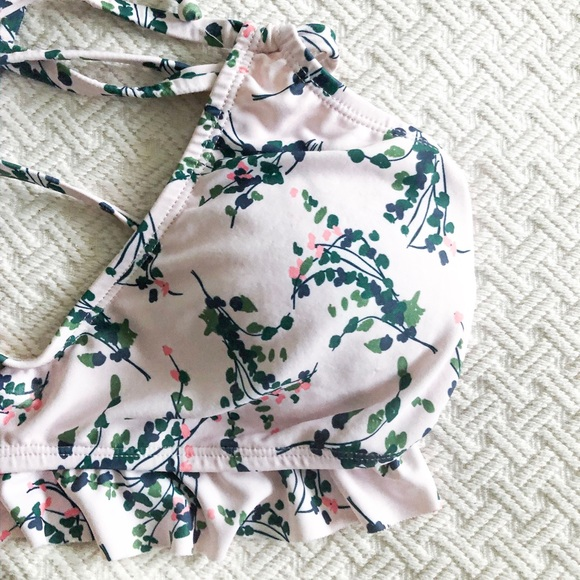 mimi hammer Other - Mimi hammer floral ruffle bathing suit top